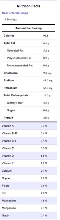 oreo nutrition