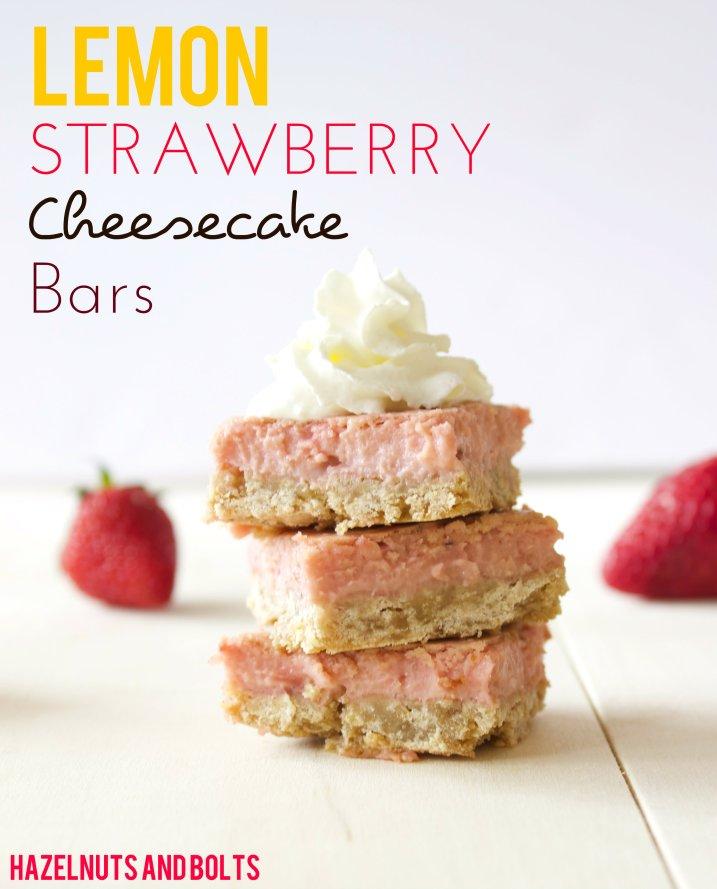Lemon Strawberry Cheesecake Bars 1